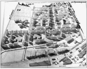 макет микрорайона Центр-2