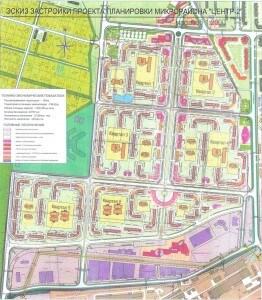 План микрорайона Центр-2 в Железнодорожном
